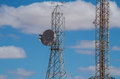 Comunication towers in rural south australia Royalty Free Stock Photo