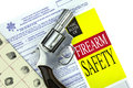 Concealed Weapon Permit Application with Gun Royalty Free Stock Photo