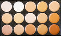Concealers closeup.Set of decorative nude cosmetics for makeup. Royalty Free Stock Photo