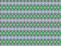 Concentrated textile pattern in a repeated distibution that combines green and silver tones Stock Photos