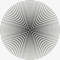 Concentric circle. Illustration for sound wave. Black and white color ring. illustration