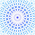 Concentric circle ornament light blue and azure on white