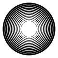 Concentric circles geometric element. Radial, radiating circular