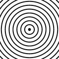 Concentric circles pattern. Abstract monochrome-geometric illust Royalty Free Stock Photo