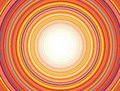 Concentric Circles Pattern, Orange Royalty Free Stock Photo