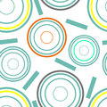 Concentric circles seamless pattern Royalty Free Stock Photo