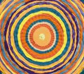 concentric circles to form a target made of woven fabrics Royalty Free Stock Photo
