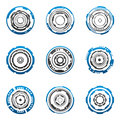 Concentric gear shapes Stock Image