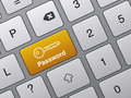 Concept of accessibility with password button Stock Photo