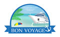 Concept for advertising travel on the cruise ship with Â«Bon Voy