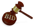 Concept of auction Stock Photos