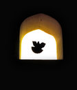 Concept background dove hope flying window Royalty Free Stock Photography
