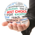 Concept of best choice Royalty Free Stock Photo