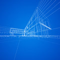 Concept blueprint blue my design d model Royalty Free Stock Images