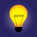 Concept bulb with filament replaced by solution Royalty Free Stock Images