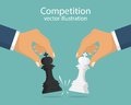 Concept of business competition. Royalty Free Stock Photo
