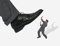 Concept business man getting stepped Royalty Free Stock Photo