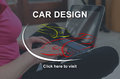 Concept of car design Royalty Free Stock Photo