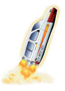 Concept car illustration of a rocket Stock Image