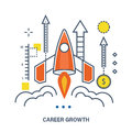 Concept of career growth and start up business