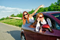 Concept of carefree roadtrip Stock Photography