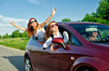 Concept of carefree roadtrip Royalty Free Stock Photography