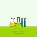 The concept of chemical science research lab Royalty Free Stock Photo