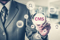 The concept of cms content management system website administration Stock Photography