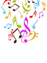Concept of colorful musical notes.