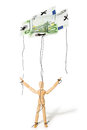 Concept of controlled marionette Stock Image