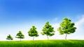 Concept de duurzame groei in zaken of milieuconse