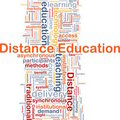Concept de fond d'éducation de distance Photo stock