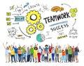 Concept de team together collaboration people celebration de travail d équipe Photos stock