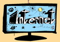 Concept doodle internet background and texture Royalty Free Stock Image