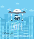 Concept of the drone with the camera.