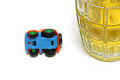 Concept drunk and drive of road accident during Royalty Free Stock Photography