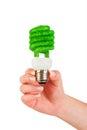 Concept Eco light bulb Royalty Free Stock Photo