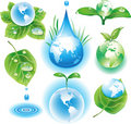 The concept of ecology symbols Stock Photography