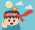 Concept effort illustration eps Royalty Free Stock Images