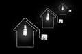 The concept of electricity in residential homes Royalty Free Stock Photography