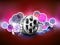 Concept of film reel. Royalty Free Stock Photo