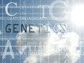 Concept of genetics Royalty Free Stock Photo