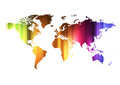 Concept of global business with world map. Stock Photography