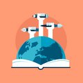 Concept of global education Royalty Free Stock Photo