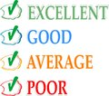 Concept of good credit score for business Royalty Free Stock Photo