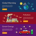 The concept of green energy, global warming, pollution Royalty Free Stock Photo