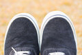 Concept of half shoes. Royalty Free Stock Photo
