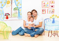 Concept : happy young family in  new apartment dream and plan in Royalty Free Stock Photo