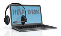 Concept of help desk service Stock Images