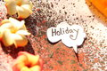 Concept of holiday in speech bubble on grunge effect Stock Photo